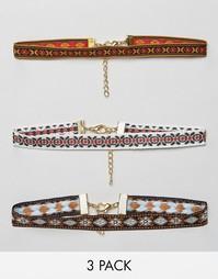 Три ожерелья‑чокер Rock N Rose Dania - Мульти