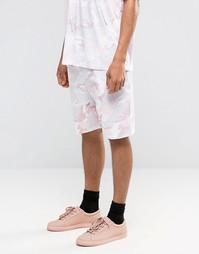 Шорты с камуфляжным принтом Granted - Розовый