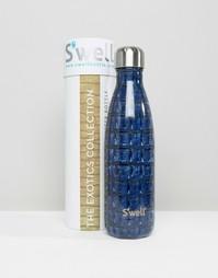 Темно-синяя бутылка объемом 500 мл с крокодиловым принтом Swell - Темно-синий