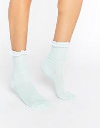 Носки с оборкой Gipsy - Зеленый
