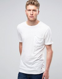 Футболка с мешковатым карманом Ringspun - Белый