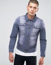 Серая джинсовая куртка Liquor & Poker - Серый