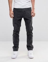 Мраморные джинсы с манжетами Liquor & Poker - Черный