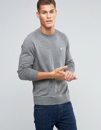 Abercrombie & Fitch Jumper Pop Icon Fine Knit In Grey - Серый