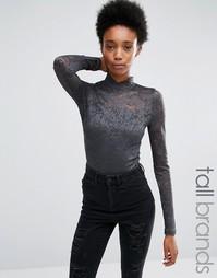 Кружевное боди Vero Moda Tall - Серый