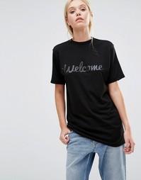 Классическая футболка с логотипом This is Welcome - Черный