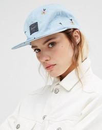 Джинсовая кепка с вышивкой Микки Мауса Herschel - Синий