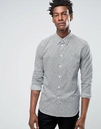 Темно-синяя рубашка слим со сплошным принтом в горошек Paul Smith - Темно-синий