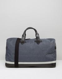 Парусиновая сумка с отделкой в кожаном стиле Racing Green - Синий