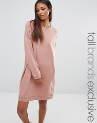Трикотажное oversize‑платье One Day Tall - Розовый