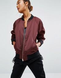 Атласная куртка‑пилот First & I - Фиолетовый
