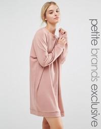 Платье-свитшот в стиле oversize от One Day Petite - Розовый