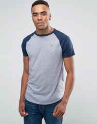 Серая футболка узкого кроя с логотипом Hollister Must Have - Серый