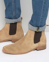 Замшевые ботинки челси Shoe The Bear - Бежевый