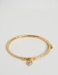 Браслет с сердечком паве Juicy Couture - Серебряный