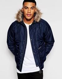 Укороченная куртка с капюшоном Ringspun Max - Темно-синий