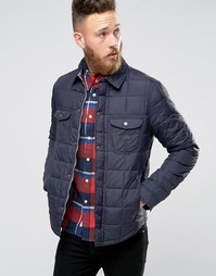 Темно-синяя стеганая куртка в стиле рубашки Lee - Темно-синий