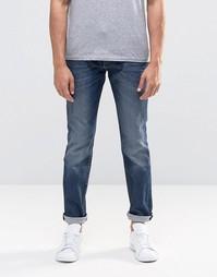 Синие джинсы слим Lee Rider - Синий