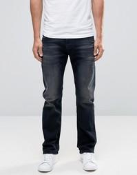 Черные потертые прямые джинсы Diesel Waykee 858J - Черный