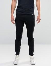 Трикотажные штаны с байкерской отделкой Diesel P-Work - Черный