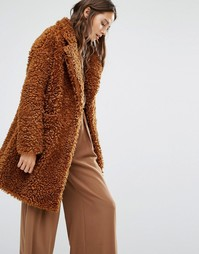 Плюшевое пальто Paisie - Коричневый