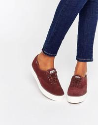 Замшевые кроссовки на платформе Keds 70S - Красный