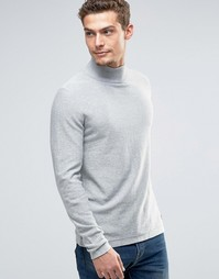 Джемпер со свободным вырезом и открытой кромкой Esprit - Серый