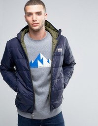 Стеганая куртка с капюшоном Penfield Mackinaw - Темно-синий