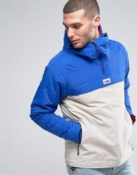 Теплая 2-цветная куртка через голову с капюшоном Penfield Wapiti - Синий
