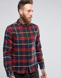 Рубашка в клетку Edwin Labour - Красный