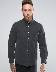 Рубашка из ткани добби Edwin - Черный
