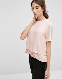 Топ с плиссировкой по низу Y.A.S Special - Розовый