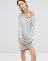 Трикотажное платье Sundry - Серый