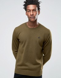 Джемпер цвета хаки с круглым вырезом и логотипом Paul Smith - Зеленый