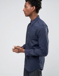 Темно-синяя строгая рубашка в горошек Paul Smith - Темно-синий