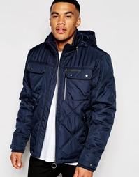 Куртка со стегаными вставками Ringspun Sermon - Темно-синий