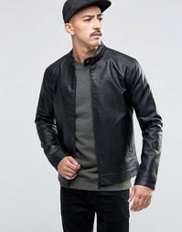 Куртка из искусственной кожи Troy - Черный