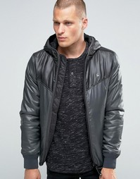 2-цветная куртка с капюшоном G-Star Setscale - Темно-синий