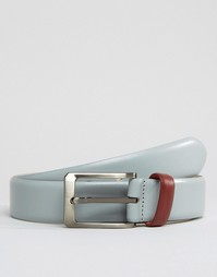 Узкий кожаный ремень Smith And Canova - Серый