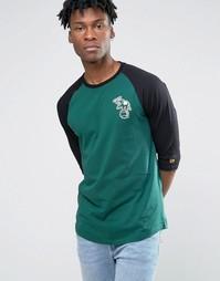 Футболка с рукавами реглан 3/4 New Era Oakland Athletics - Зеленый