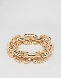 Массивный браслет-цепочка Nylon - Золотой