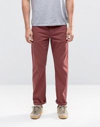 Бордовые эластичные джинсы слим ASOS - Красный