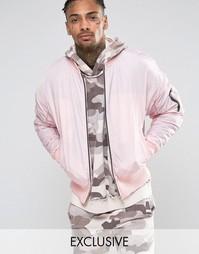 Куртка-пилот в стиле oversize Other UK - Розовый