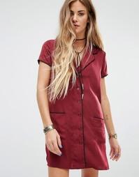 Платье-рубашка Honey Punch - Красный