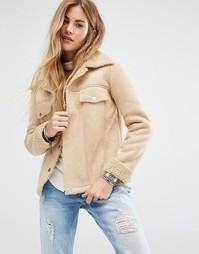 Куртка с отделкой под овечью шерсть Honey Punch - Кремовый