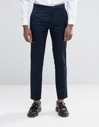 Темно-синие брюки узкого кроя Harry Brown - Темно-синий
