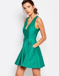 Вечернее платье с глубоким декольте C/meo Collective Nights - Зеленый