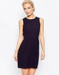 Платье в горошек с завязкой Closet - Черный