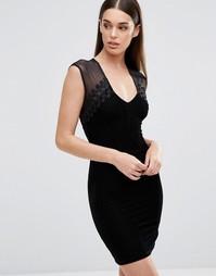 Платье с высокой горловиной TFNC - Черный
