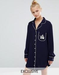 Ночная рубашка Chelsea Peers Ditsy - Темно-синий